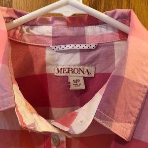 Merona Long sleeve button down top